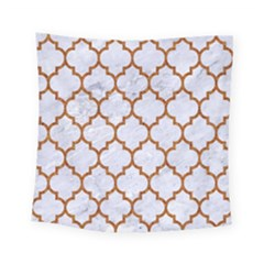 TILE1 WHITE MARBLE & RUSTED METAL (R) Square Tapestry (Small)