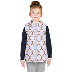 TILE1 WHITE MARBLE & RUSTED METAL (R) Kid s Hooded Puffer Vest