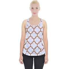 TILE1 WHITE MARBLE & RUSTED METAL (R) Piece Up Tank Top