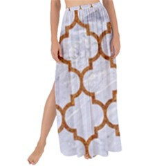 TILE1 WHITE MARBLE & RUSTED METAL (R) Maxi Chiffon Tie-Up Sarong