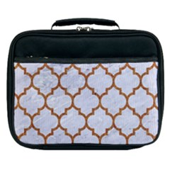 TILE1 WHITE MARBLE & RUSTED METAL (R) Lunch Bag