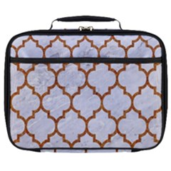 TILE1 WHITE MARBLE & RUSTED METAL (R) Full Print Lunch Bag