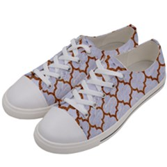 TILE1 WHITE MARBLE & RUSTED METAL (R) Women s Low Top Canvas Sneakers