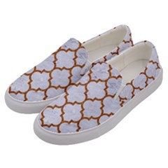 TILE1 WHITE MARBLE & RUSTED METAL (R) Men s Canvas Slip Ons