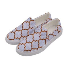 TILE1 WHITE MARBLE & RUSTED METAL (R) Women s Canvas Slip Ons