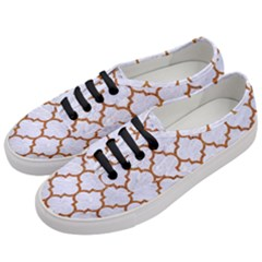 TILE1 WHITE MARBLE & RUSTED METAL (R) Women s Classic Low Top Sneakers