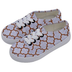 TILE1 WHITE MARBLE & RUSTED METAL (R) Kids  Classic Low Top Sneakers