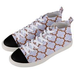 TILE1 WHITE MARBLE & RUSTED METAL (R) Men s Mid-Top Canvas Sneakers