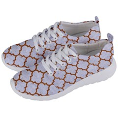 TILE1 WHITE MARBLE & RUSTED METAL (R) Men s Lightweight Sports Shoes