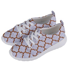 TILE1 WHITE MARBLE & RUSTED METAL (R) Women s Lightweight Sports Shoes