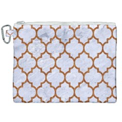 TILE1 WHITE MARBLE & RUSTED METAL (R) Canvas Cosmetic Bag (XXL)