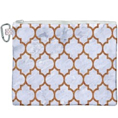 TILE1 WHITE MARBLE & RUSTED METAL (R) Canvas Cosmetic Bag (XXXL)