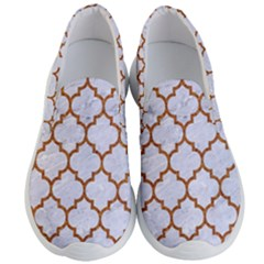 TILE1 WHITE MARBLE & RUSTED METAL (R) Men s Lightweight Slip Ons