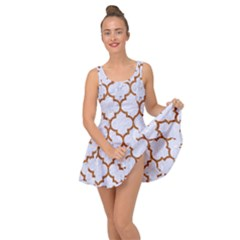 TILE1 WHITE MARBLE & RUSTED METAL (R) Inside Out Dress
