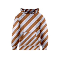 Stripes3 White Marble & Rusted Metal (r) Kids  Pullover Hoodie by trendistuff