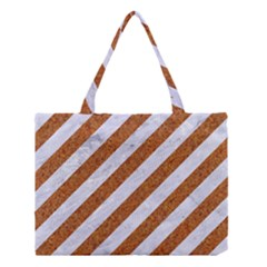 Stripes3 White Marble & Rusted Metal (r) Medium Tote Bag by trendistuff