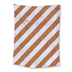 Stripes3 White Marble & Rusted Metal (r) Medium Tapestry