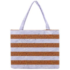 Stripes2white Marble & Rusted Metal Mini Tote Bag by trendistuff