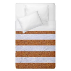 Stripes2white Marble & Rusted Metal Duvet Cover (single Size) by trendistuff