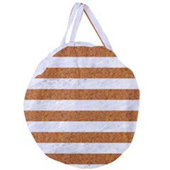 Stripes2white Marble & Rusted Metal Giant Round Zipper Tote by trendistuff
