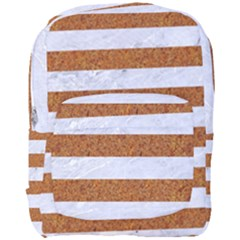 Stripes2white Marble & Rusted Metal Full Print Backpack by trendistuff