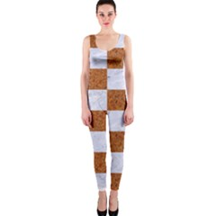 Square1 White Marble & Rusted Metal One Piece Catsuit by trendistuff