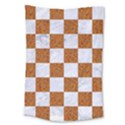 SQUARE1 WHITE MARBLE & RUSTED METAL Large Tapestry View1