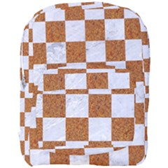 Square1 White Marble & Rusted Metal Full Print Backpack by trendistuff