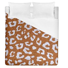 Skin5 White Marble & Rusted Metal (r) Duvet Cover (queen Size) by trendistuff