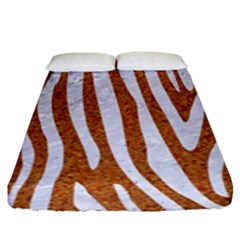 Skin4 White Marble & Rusted Metal (r) Fitted Sheet (king Size) by trendistuff