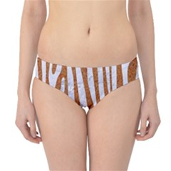 Skin4 White Marble & Rusted Metal (r) Hipster Bikini Bottoms by trendistuff
