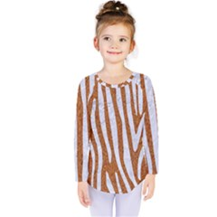 Skin4 White Marble & Rusted Metal (r) Kids  Long Sleeve Tee by trendistuff