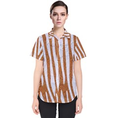 Skin4 White Marble & Rusted Metal (r) Women s Short Sleeve Shirt by trendistuff