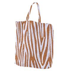 Skin4 White Marble & Rusted Metal (r) Giant Grocery Zipper Tote by trendistuff