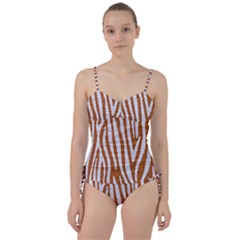 Skin4 White Marble & Rusted Metal (r) Sweetheart Tankini Set by trendistuff