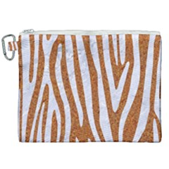 Skin4 White Marble & Rusted Metal (r) Canvas Cosmetic Bag (xxl) by trendistuff