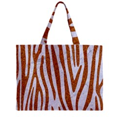 Skin4 White Marble & Rusted Metal Zipper Mini Tote Bag by trendistuff