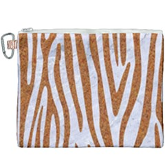 Skin4 White Marble & Rusted Metal Canvas Cosmetic Bag (xxxl) by trendistuff