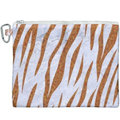 Skin3 White Marble & Rusted Metal (r) Canvas Cosmetic Bag (xxxl) by trendistuff
