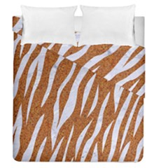 Skin3 White Marble & Rusted Metal Duvet Cover Double Side (queen Size) by trendistuff