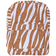 Skin3 White Marble & Rusted Metal Full Print Backpack by trendistuff