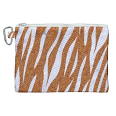 Skin3 White Marble & Rusted Metal Canvas Cosmetic Bag (xl) by trendistuff