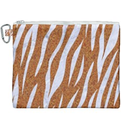 Skin3 White Marble & Rusted Metal Canvas Cosmetic Bag (xxxl) by trendistuff