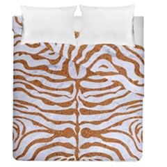 Skin2 White Marble & Rusted Metal (r) Duvet Cover Double Side (queen Size) by trendistuff