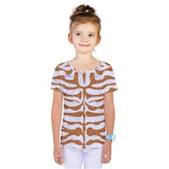 Skin2 White Marble & Rusted Metal (r) Kids  One Piece Tee