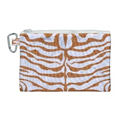 Skin2 White Marble & Rusted Metal (r) Canvas Cosmetic Bag (large) by trendistuff