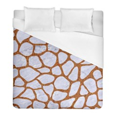 Skin1 White Marble & Rusted Metal Duvet Cover (full/ Double Size) by trendistuff
