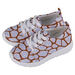 Skin1 White Marble & Rusted Metal Kids  Lightweight Sports Shoes by trendistuff