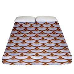 Scales3 White Marble & Rusted Metal (r) Fitted Sheet (king Size) by trendistuff