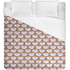 Scales3 White Marble & Rusted Metal (r) Duvet Cover (king Size) by trendistuff